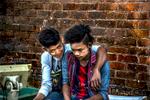 Two Boys at Fish Market