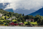 Homes Along Fijord Norway