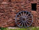 Wagon Wheel against Brick Wall, Grand Canyon AZ