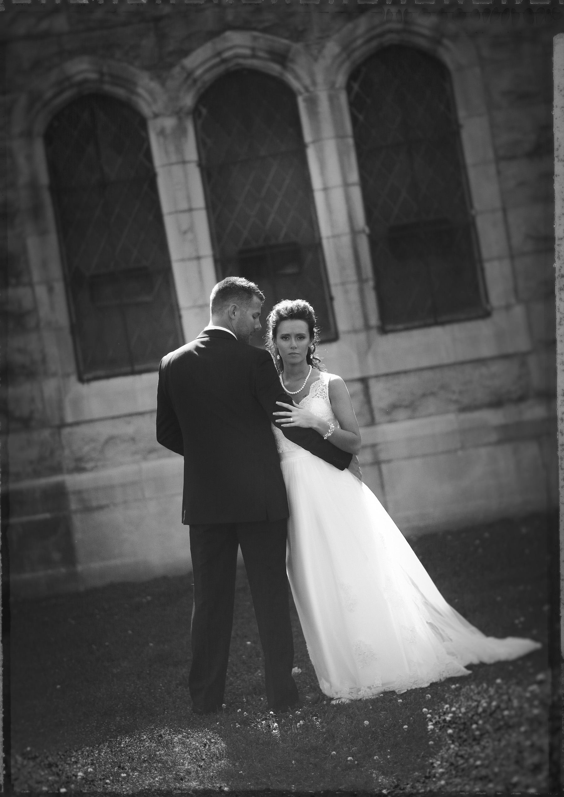 Portrait of a bride and groom.