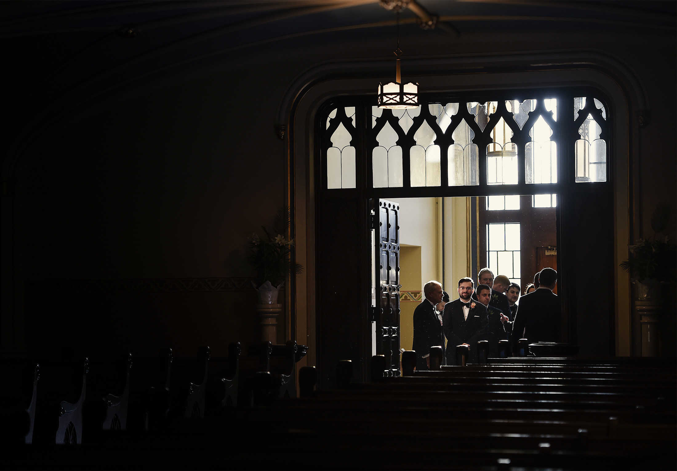 Groom waits in Redemptorist Church