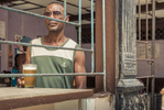 moody beer drinker in Havana