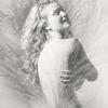 double exposure portrait of a beautiful woman. Nude double exposure fine art prints