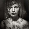 double exposure portrait of a beautiful woman. Nude double exposure fine art prints,