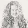 double exposure portrait of a beautiful woman. Nude double exposure fine art prints, nude,