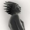fine art black and white studio female nude