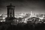 226-Edinburgh-at-night-Dugald-Stewart-Monument-II-ORNG7354-2