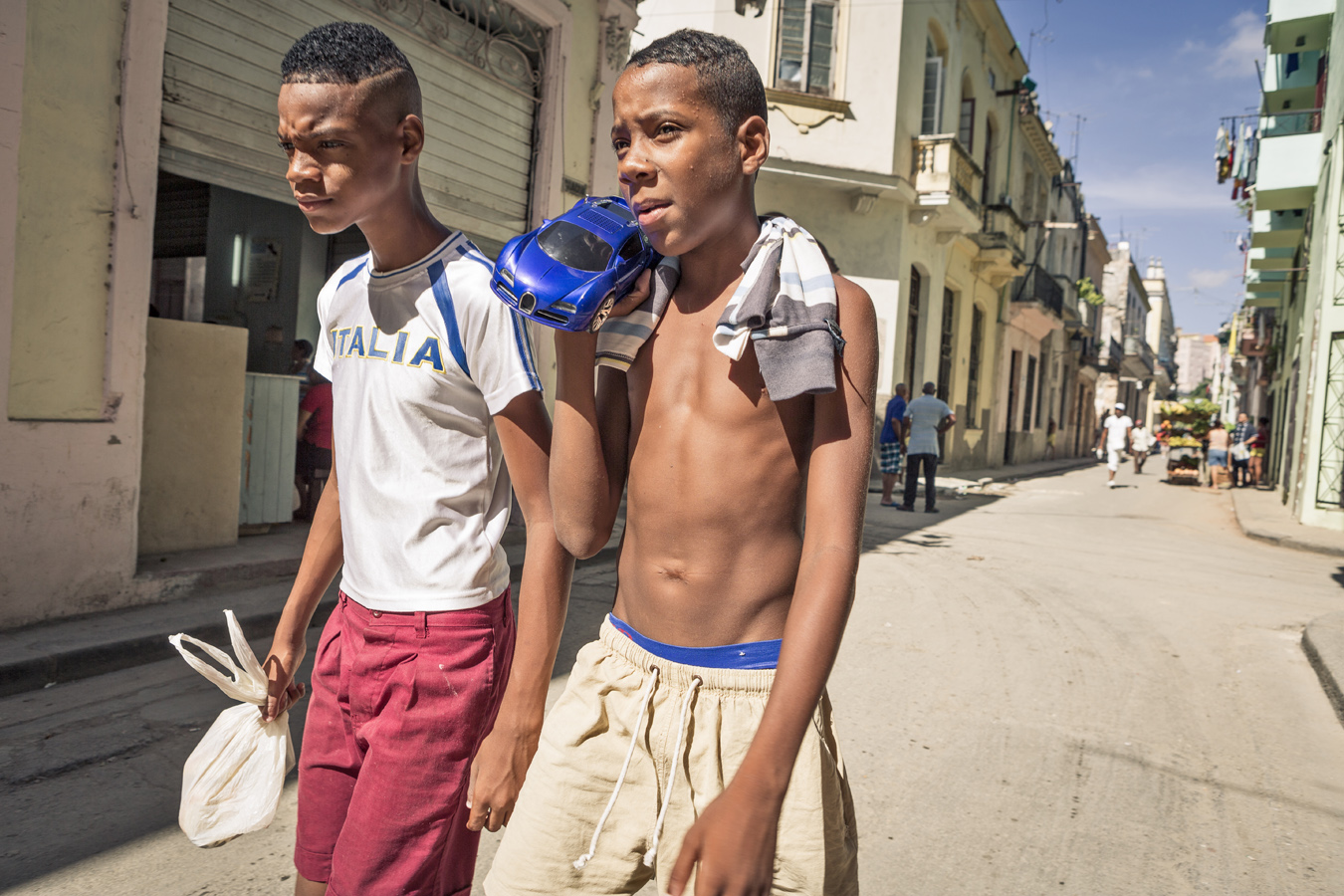 kids on the street in Havana