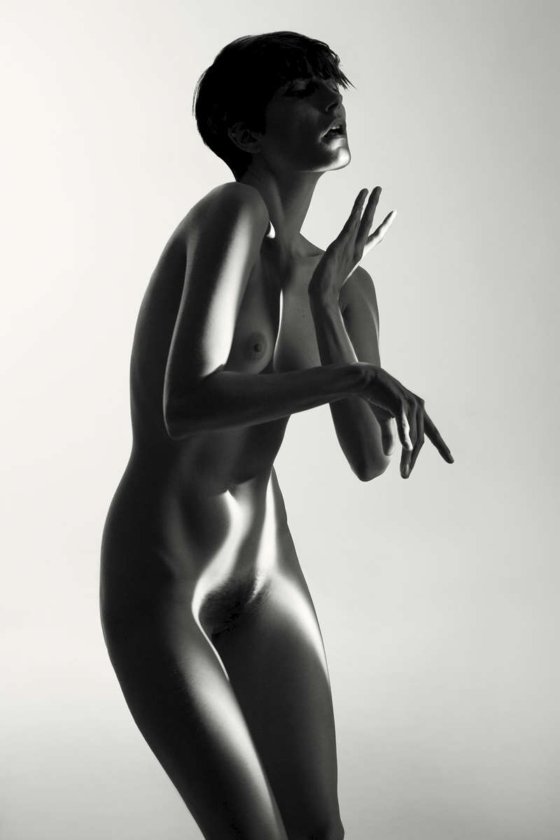 fine art black and white studio female nude