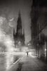 Edinburgh Dead of Night - Scott Monument rain
