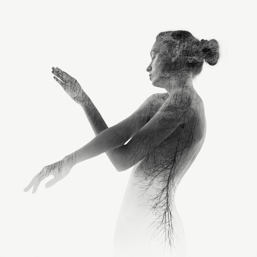 nude double exposure profile