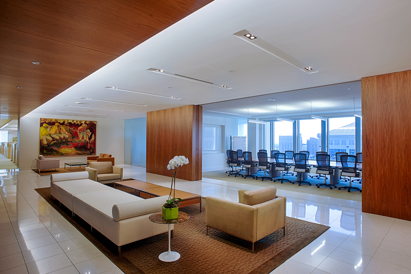 Dallas-Parkway-Office-Building-Interior-With-Conference-Room-View