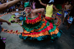 Because there is a lack of institutional hierarchy at Maria Lionza, outsiders within Latin American society, such as transgender, are generally accepted.  A dance for the spirit Negress Francisca.
