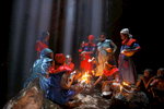 Vodou ceremonies commence first always with prayers read aloud.  These involve long offerings of thanks and the tradition of charity.  It embraces the three theological virtues upon which the African Cabal is based from its origin:  faith, hope and charity.