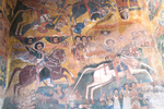 Mural painting in the Church of Abreha we Atsebeha, named for the Royal brothers Ezana, {quote}the one who lit light{quote} and Se'azana, {quote}the one who brought the dawn{quote}.