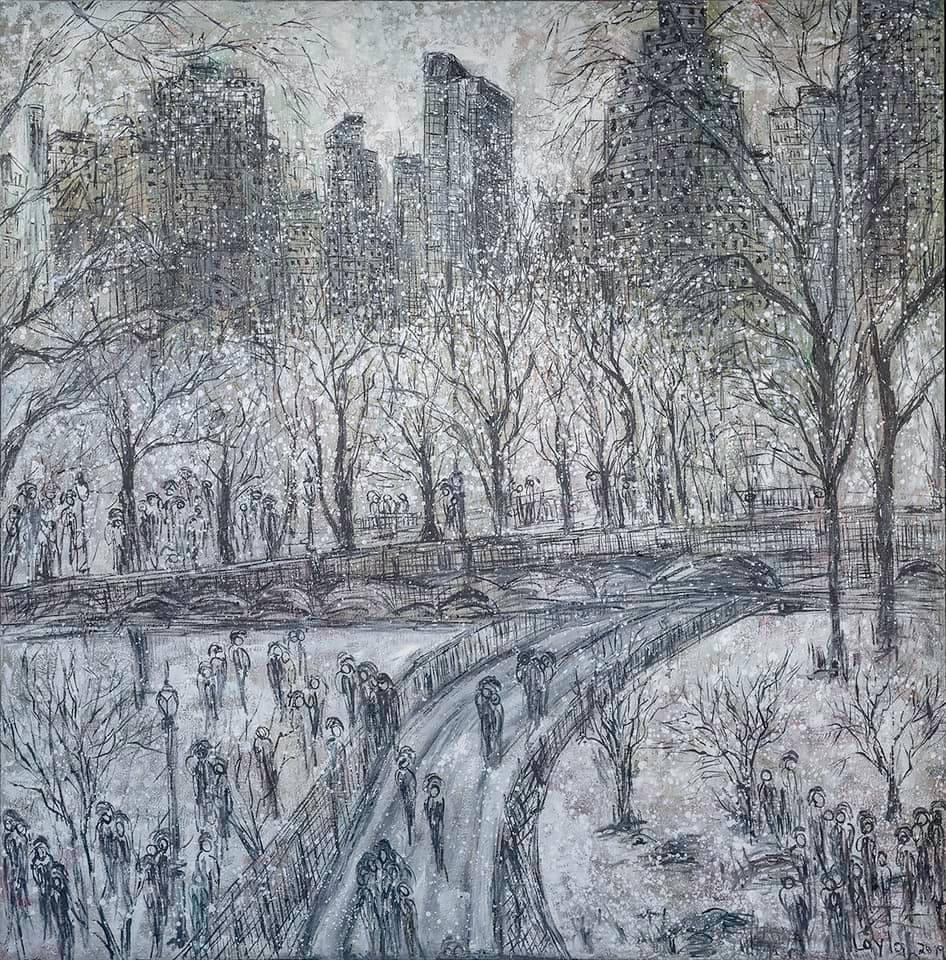 Winter in Center Park Opus II