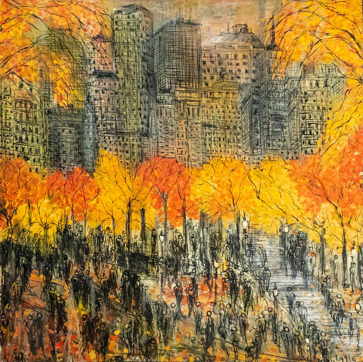 Central Park In Fall Opus  999