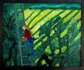 Girl Picking Olives