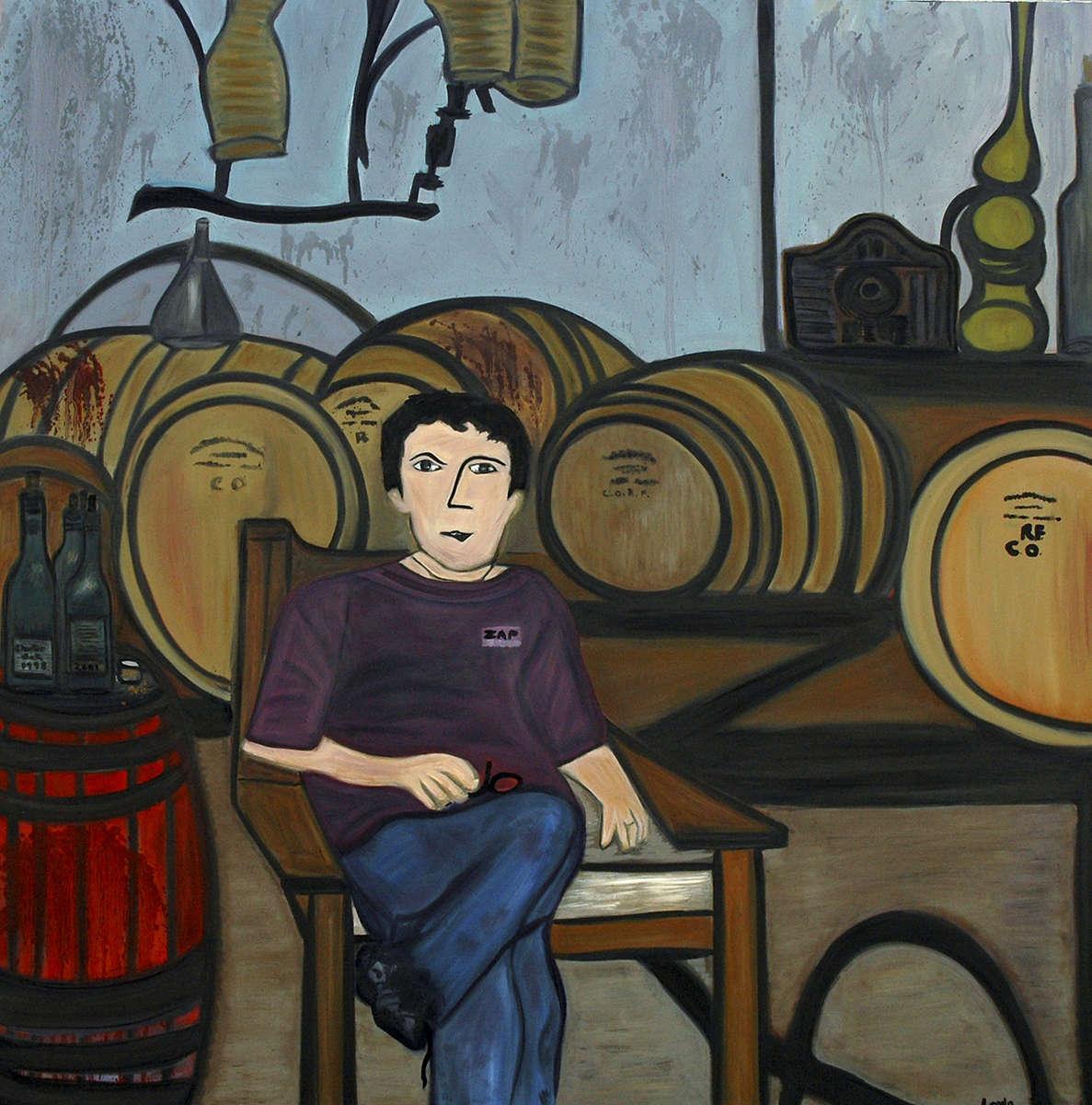 Roberto in Wine Cellar