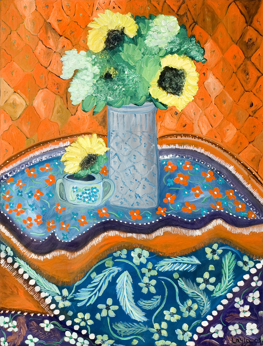 Sunflowers on Table