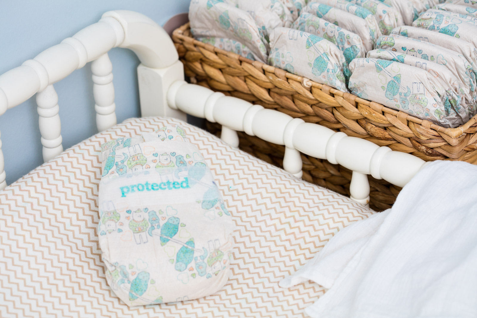 Seventh Generation product photography of Free & Clear Size 5 infant diapers, by Reciprocity Studio commercial photographers. Shot on location in Hinesburg, Vermont.