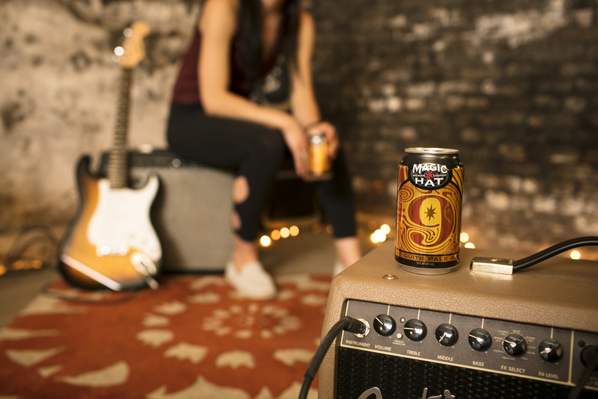 Taking a break from band practice with a cold #9 from Magic Hat. Photo by Jam Creative.