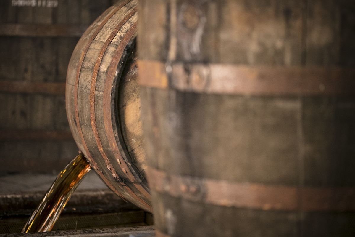 Aged Whisky Barrel transfer. Lifestyle and product photography for Whistlepig Whiskey, by JAM Creative.
