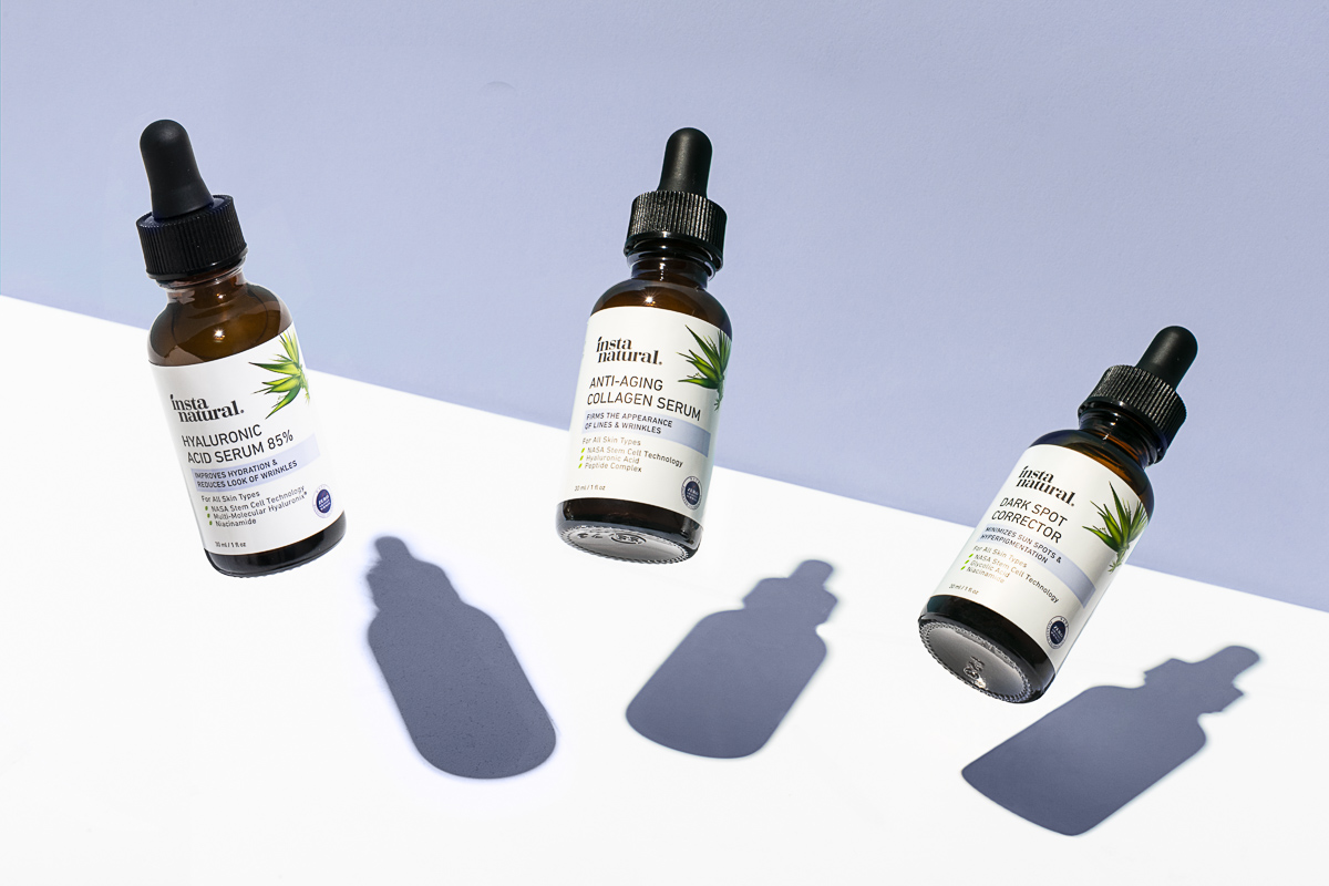 Skincare and Cosmedic product photography for Instanatural, by Jam Creative.