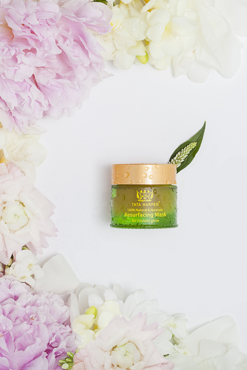 Skincare and cosmedic product photography. Resurfacing Mask by TaTa Harper, photo by Jam Creative.