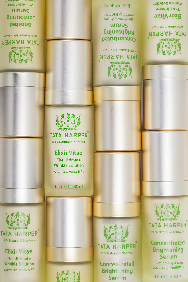 Skincare and cosmedic product photography. Elixir Vitae by TaTa Harper, photo by Jam Creative.