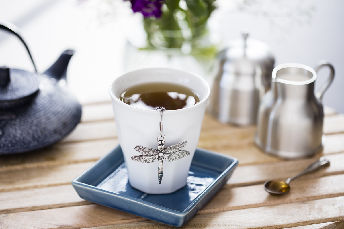 Morning tea set by Danforth Pewter photographed by JAM Creative
