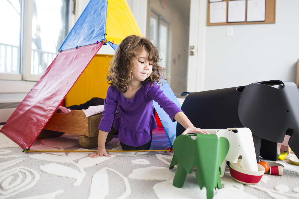 Lifestyle and product photography of Eames Toys and children playing for Eames by commercial photographers JAM Creative