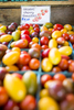 Organic cherry tomatoes of every hue are on display at the Burlington Farmers Market in City Hall Park on Saturday, September 29, 2018. by JAM Creative for Yankee Magazine