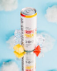 Beverage photography of Seagram's Hard Seltzer product line with fruit and ice. by Vermont photographers at JAM Creative.