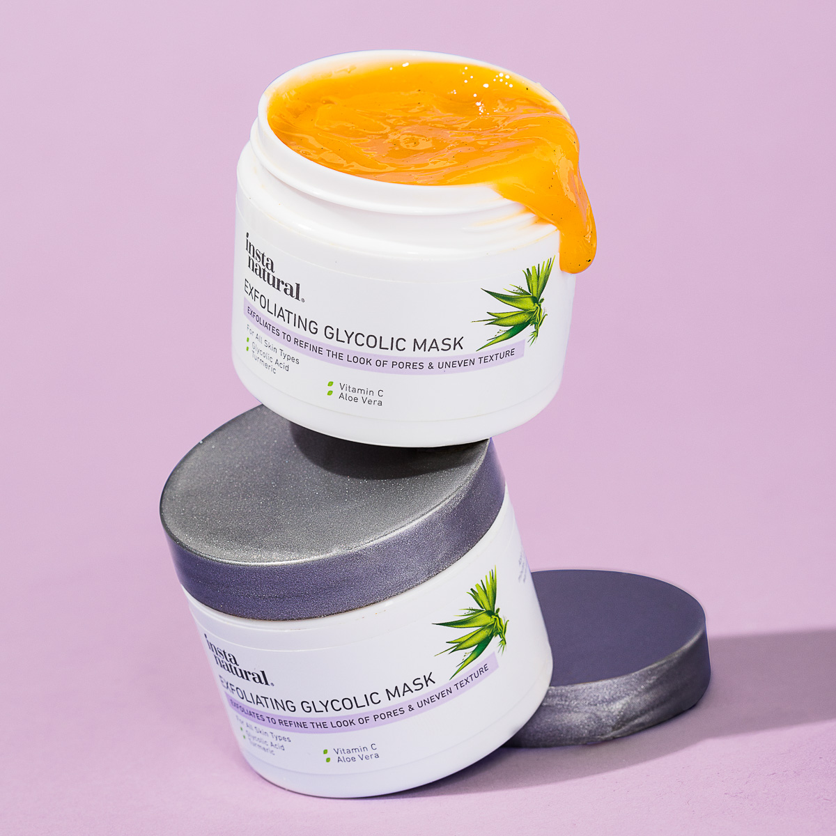 Skin care photography of Glycolic mask for Instanatural, by product photographers at JAM Creative