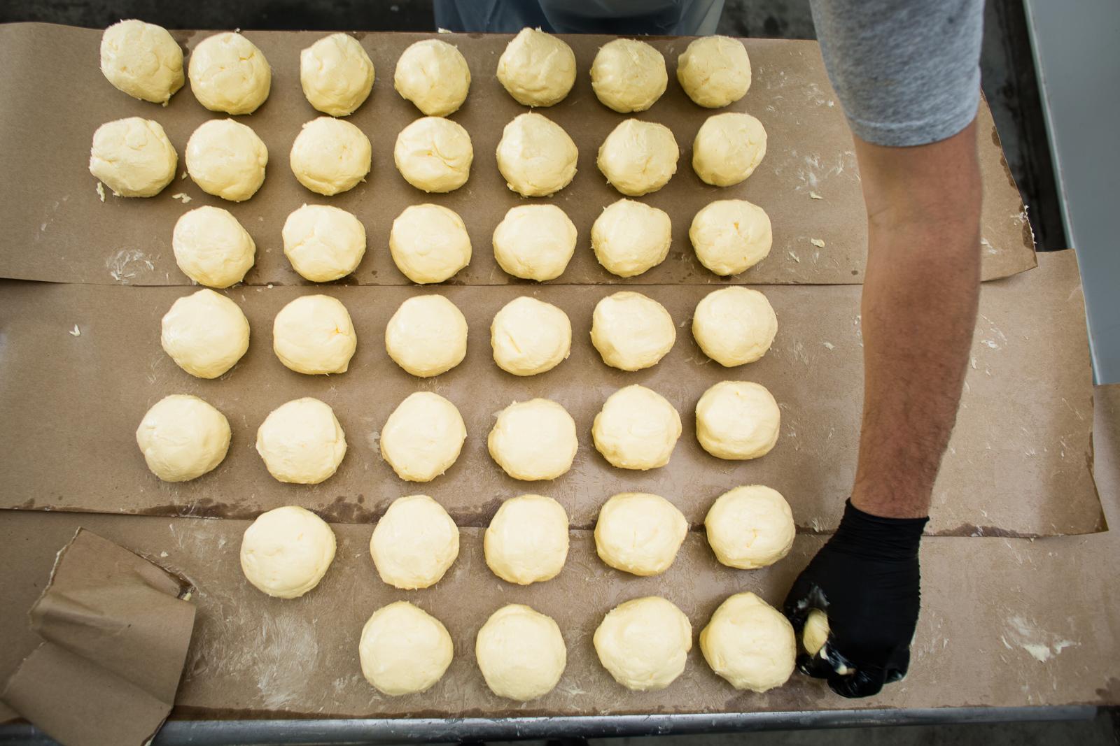 Ed LASTNAME makes butter for Ploughgate Creamery at Bragg Farm in Fayston, Vermont.