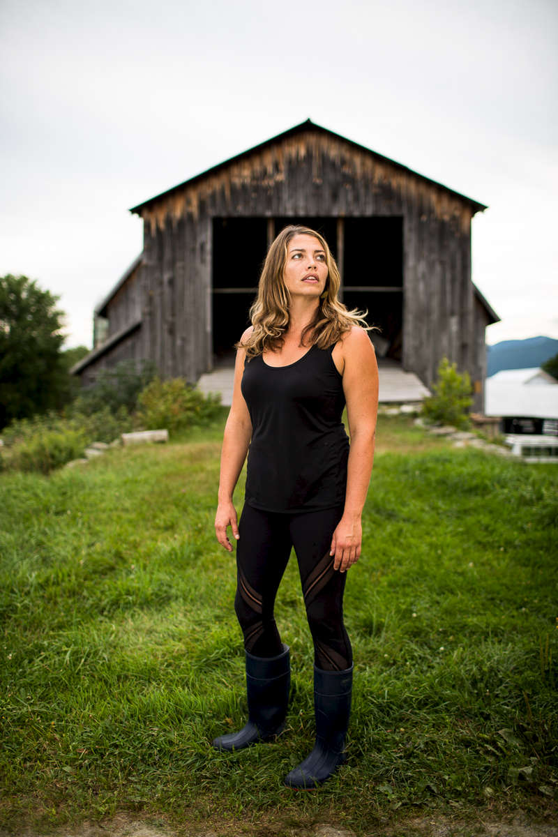 Marisa Mauro, founder of Ploughgate Creamery at Bragg Farm in Fayston, Vermont.