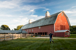 Ransom Conant on a late summer evening at Conant Barn in Richmond, Vermont.