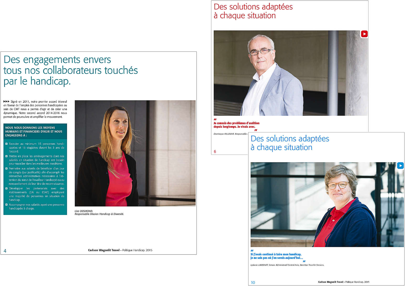 Campagne communication handicap Carlson Wagonlit Travel