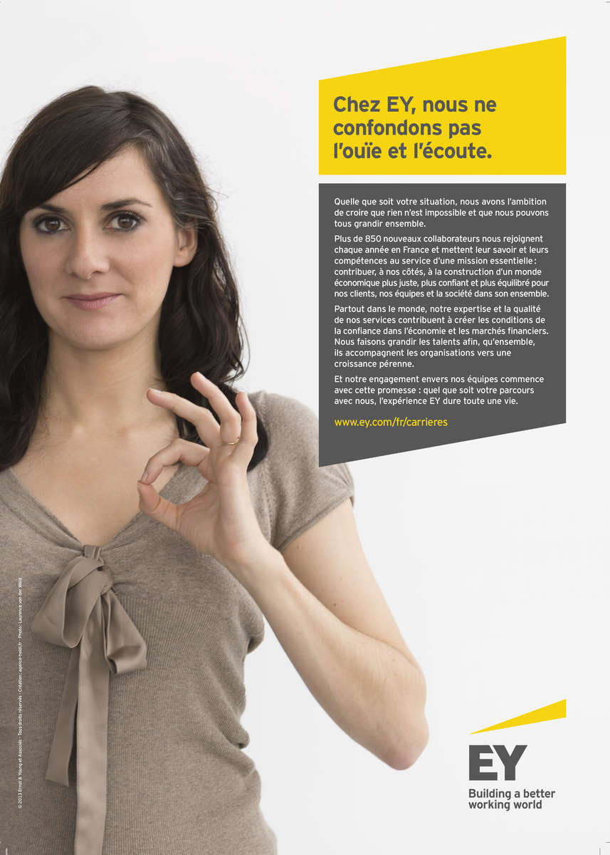 Campagne communication handicap EY, 2014