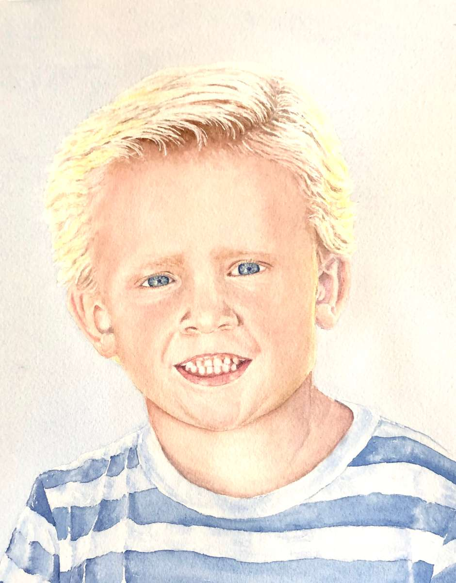 Carter Reeves - Watercolor Portrait
