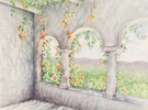 Arches and vines, a Watercolor by Martha Shilliday
