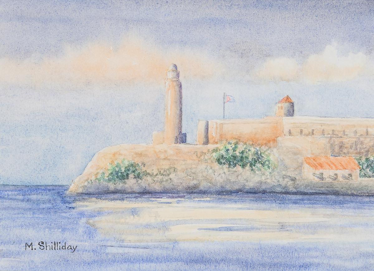 Morro Castle, Havana, Cuba, a Watercolor by Martha Shilliday
