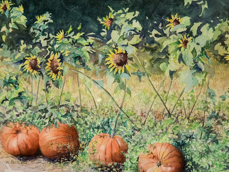 Martha Pumpkin Card Large
