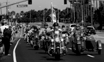 Members of the West Coast Thunder XII head to Riverside National Cemetery, the second largest site dedicated to the interment of U.S. military personel. About 7,000 riders participated in the ride on Memorial Day in Riverside, Calif., to honor veterans who had died. (The Press-Enterprise/ Mark Zaleski)