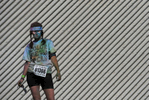 Lisa Miller is covered with several different colored dust packets after participating in the 5K Color Run in Nashville, Tenn. (Mark Zaleski/ For The Tennessean)