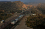 The Kelso Flyer passenger train runs between Barstow and Kelso, Calif., traveling through the scenic Mojave Desert. Officials hope to make it a regular rail service. (The Press-Enterprise/ Mark Zaleski)