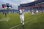 New York Jets quarterback Geno Smith leaves the field after losing to the Tennessee Titans 38-13 in an NFL football game on Sept. 29, 2013, in Nashville, Tenn. (AP Photo/ Mark Zaleski)
