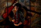 Jeanne Skrocki of Corona, Calif., has been a violinist for the Pacific Symphony Orchestra in Orange County, Calif., for 15 years. The 1747 J.B. Guadagnini violin Skrocki holds was handed down to her from her mother. (The Press-Enterprise/ Mark Zaleski)