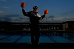 Jurupa Valley, Calif., girls water polo player Laura Uribe has led her team to two division high school playoff births. (The Press-Enterprise/ Mark Zaleski)